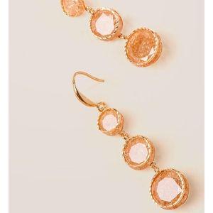 Circle Linear Earrings in Champagne
